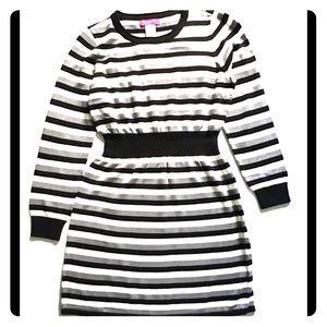 U Knit XL Zebra Stripes Dress